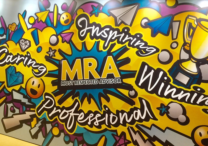 永明金融以MRA( Most Respected Advisor) 的理念培育保險代理,希望秉持Caring、Inspiring、Winning、 Professional 的信念。