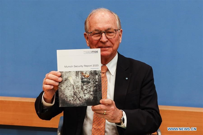 慕尼克安全報告在柏林發表。(華新社圖片)