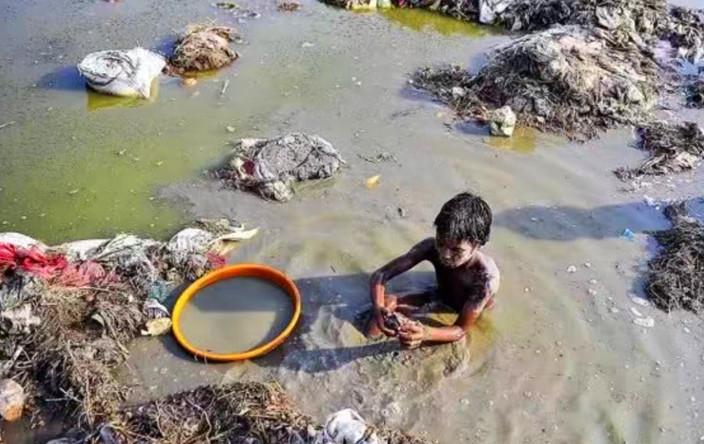 印度孩子就在这种环境中长大。