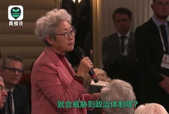 圖: 傅瑩提問反駁佩洛西。