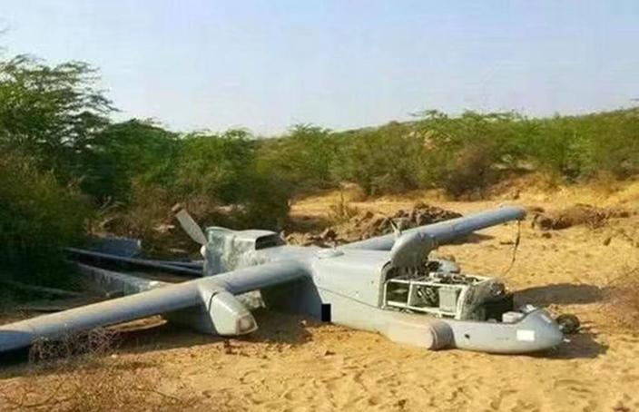 印度無人機墮毁。