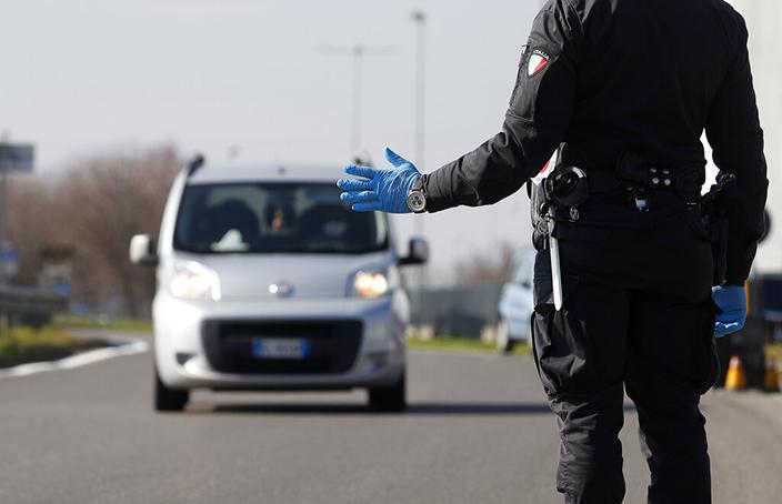 意大利部分市鎮施行了隔離封鎖。AP圖片