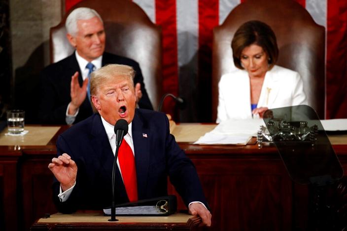 美國兩黨因對抗華為聯成一線。(AP圖片)