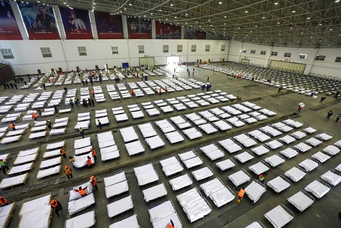 中國在極短時間內就建成專門的收治醫院,令特朗普印象深刻。(AP圖片)