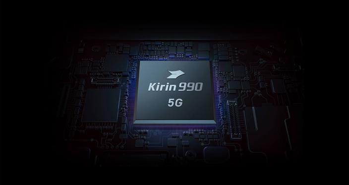 """华为自主研发的""""麒麟""""990 5G芯片,显示美国的技术禁制失效。(华为图片)"""