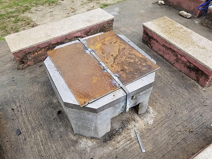 部份燒烤爐已被封鎖。