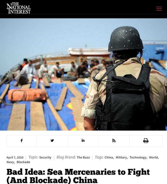 《國家利益》報導美國退休軍人的制華戰略。(網圖)