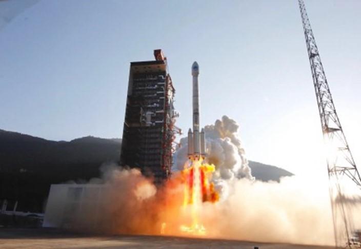 去年11月23日長征三號乙火箭成功發射兩顆北斗衛星。資料圖片