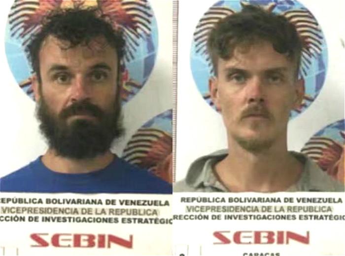 两名被捕的美国人。