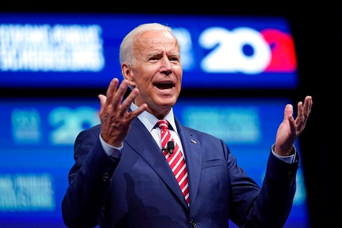 美国民主党总统候选人拜登。AP图片