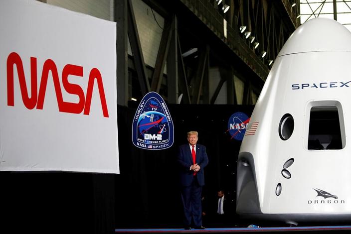 特朗普見證美國太空計畫再次偉大。AP圖片