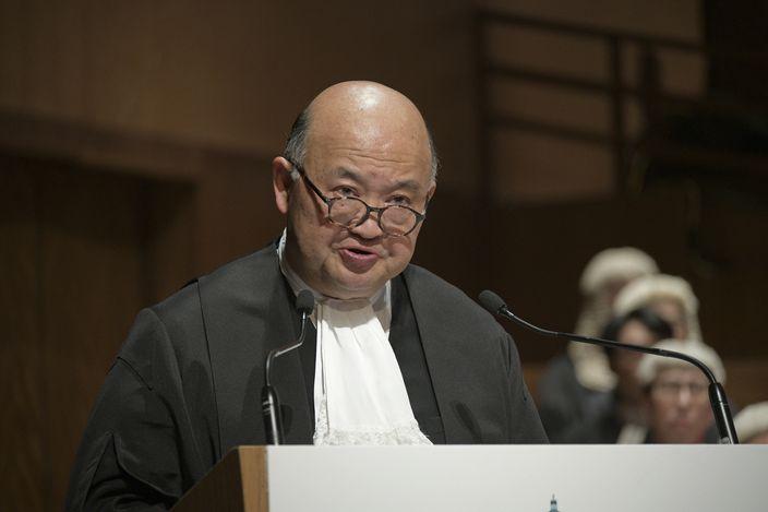 終審法院首席法官馬道立。