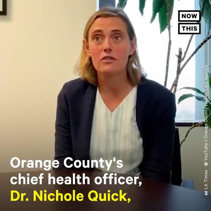 奧蘭治總衛生主任Dr Nichole Quick被恐嚇後辭職。網上圖片