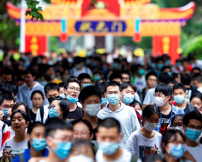 中國高考在進行中,考生將成為未來的人才大軍。(AP圖片)