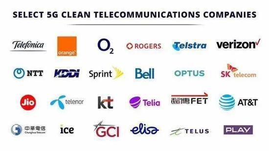 蓬佩奧還列舉所謂「清潔電訊商」,包括台灣的中華電信。