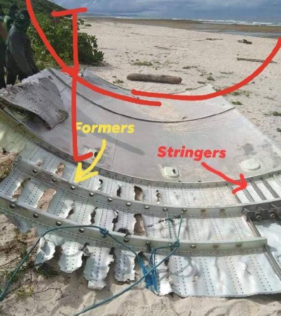 長征五號火箭殘骸照片,被人放上社交媒體上。