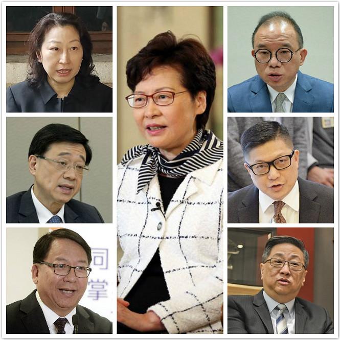 被制裁的7個香港官員。