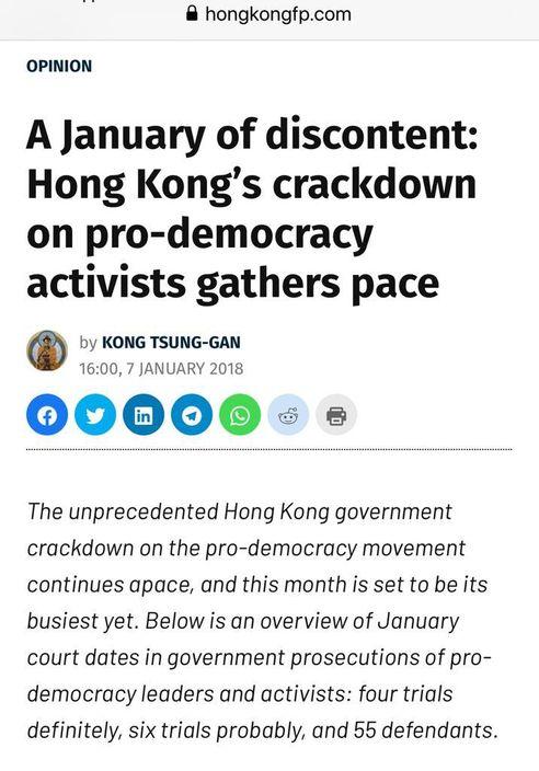 「江松澗」如今仍是香港自由報(HKFP)的專欄作家。