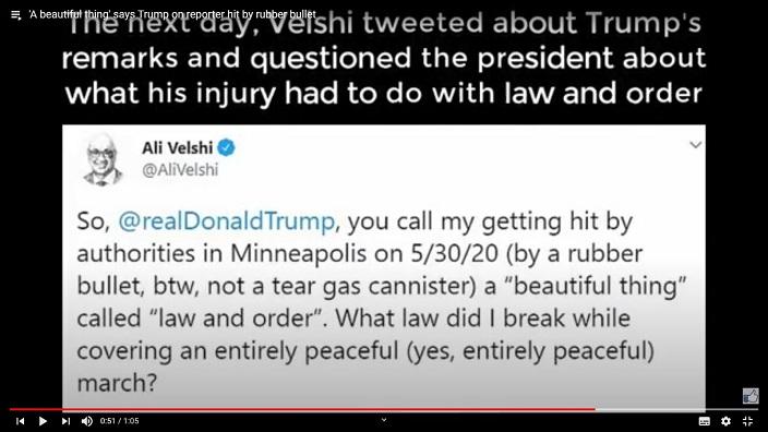維爾西在推文反擊特朗普。