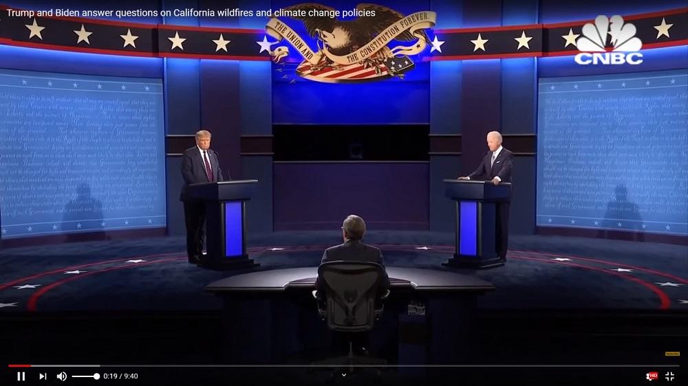 美國總統大選首場電視辯論未能令游離選民作出決定。
