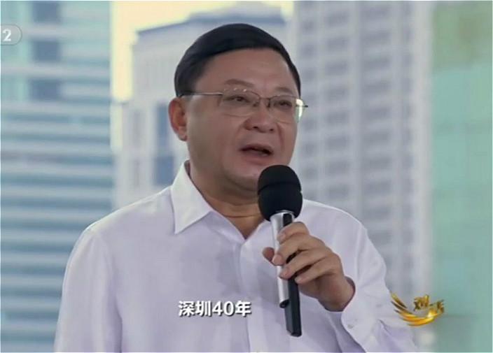 深圳市委書記王偉中現身央視《對話》節目。