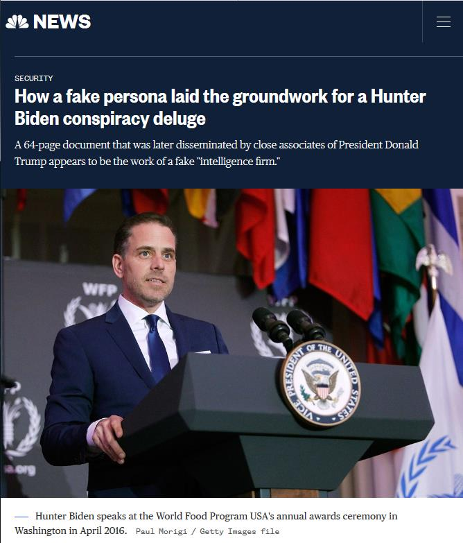 NBC独家调查揭亨特中国丑闻爆料人的背景。