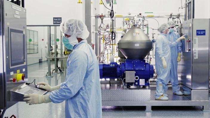 美國藥廠加新新冠疫苗的研發。(AP圖片)