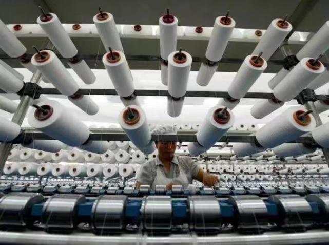 中國的紡織廠。新華社圖片