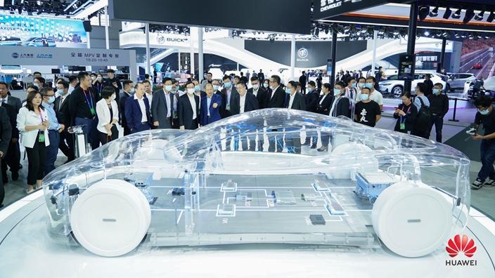 華為發布智能電動車解決方案。(網上圖片)