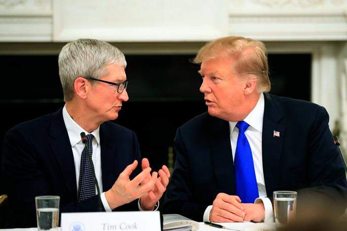 特朗普多次催促蘋果生產線撤出中國。(資料圖片)