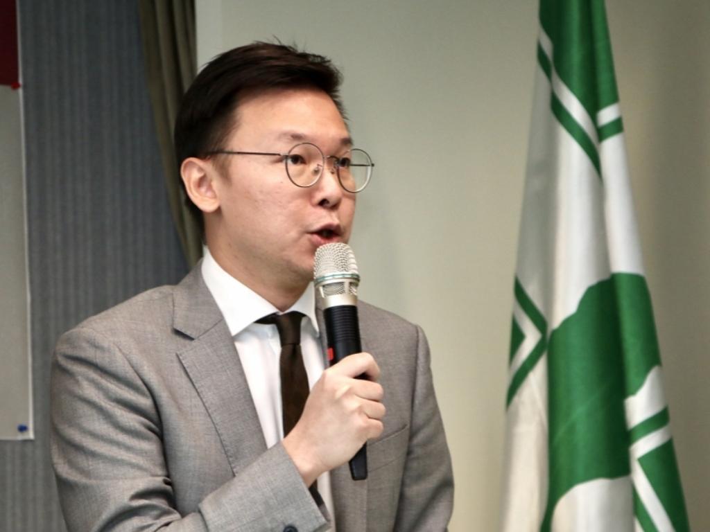 太陽花佔領受益者、民進黨副秘書長林飛帆。網上圖片