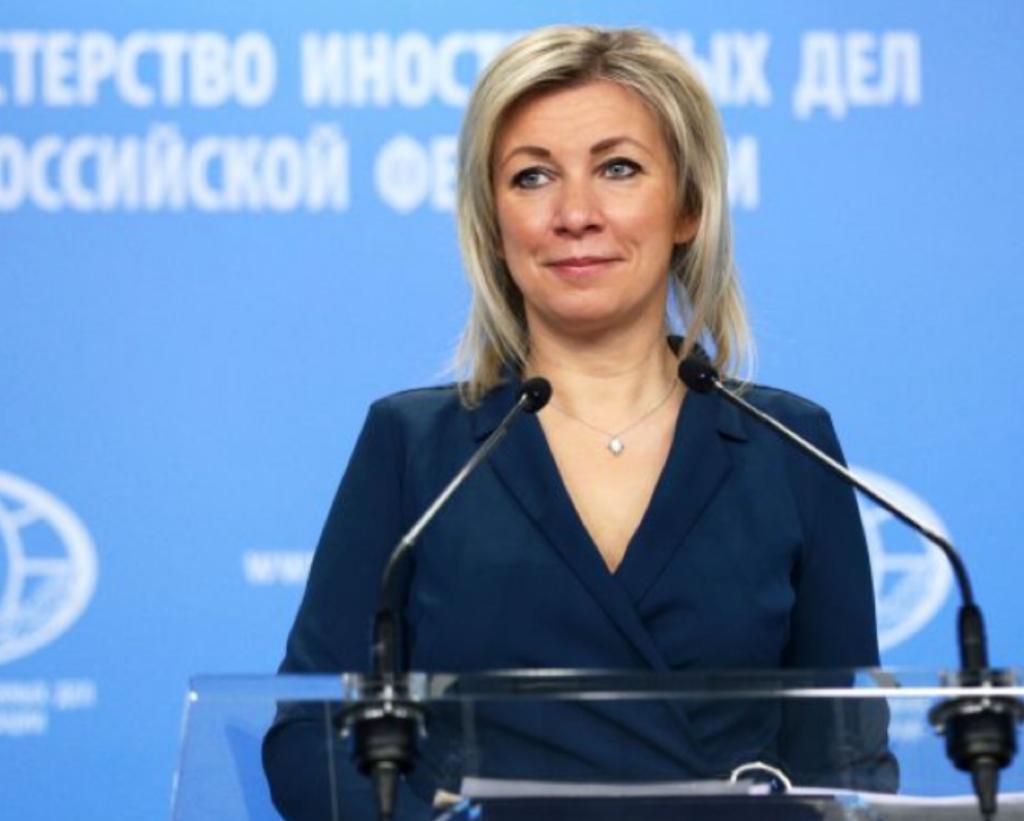 俄國外交部發言人扎哈羅娃。