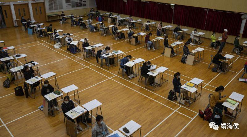"""很多人批评香港的教育是以考试为中心,学校缺乏时间栽培学生的品德、思考和分析能力,引致年青人容易被误导,上街参与非法示威。靖海侯说:""""社会上所谓的""""违法达义""""之说,就是怂恿孩子放下课本去非法""""占中""""、去参与反修例,我们能说这是考试的问题吗?""""图片:美联社"""