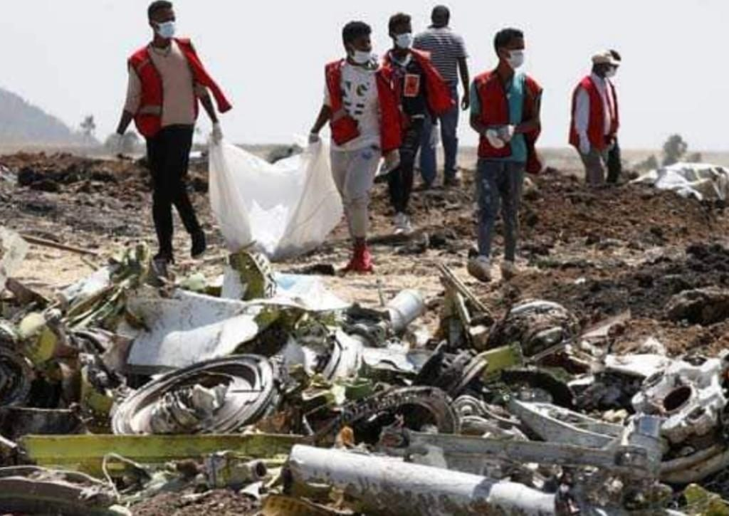 印尼獅航失事後的殘骸。