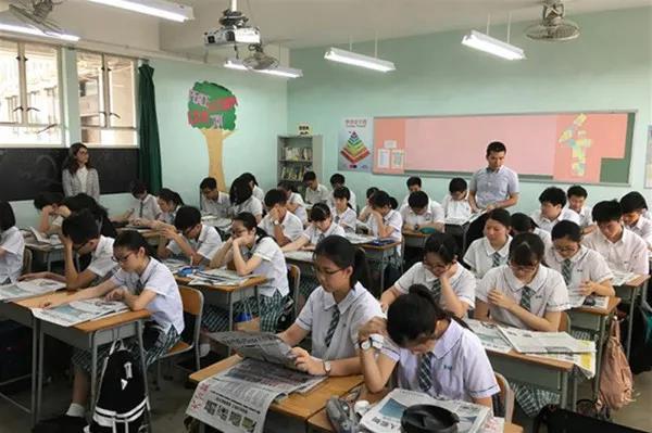 香港学生上课时