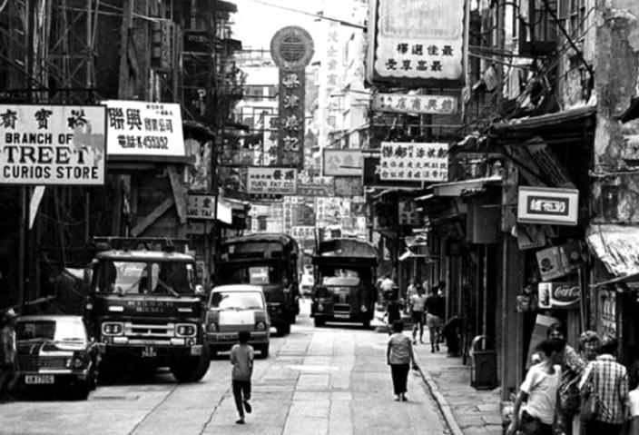 当年报社聚集的中环旧区。