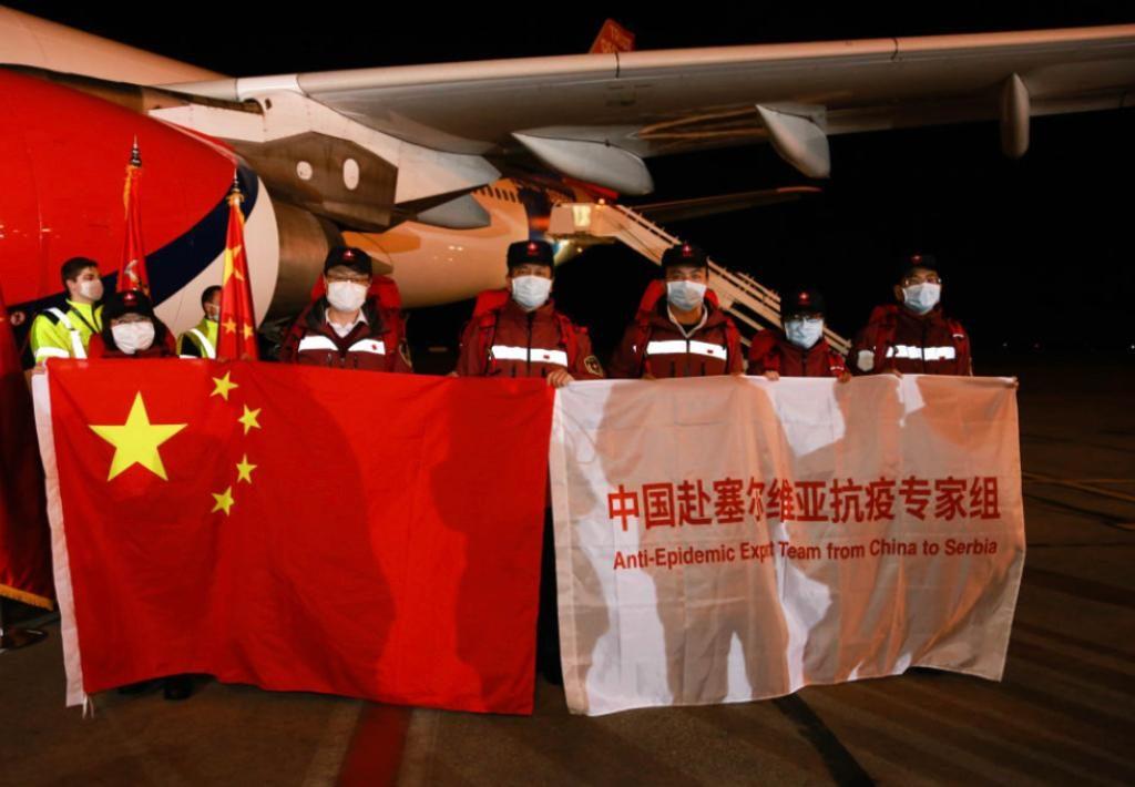 中國多次派出援助隊到塞爾維亞。