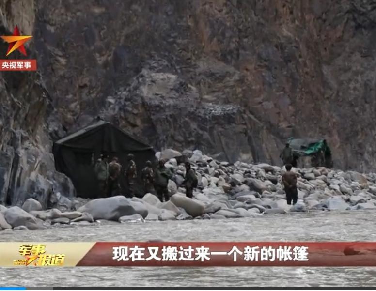 印軍在中國境內紮營。