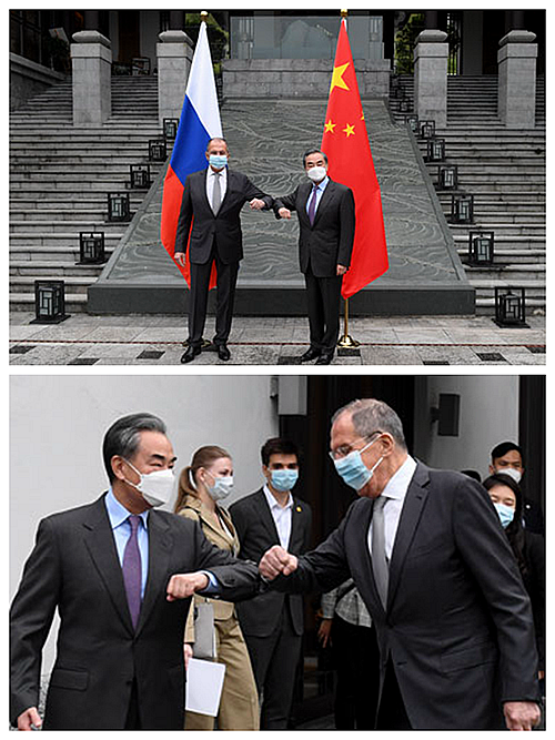 王毅與俄羅斯外長在廣西會面