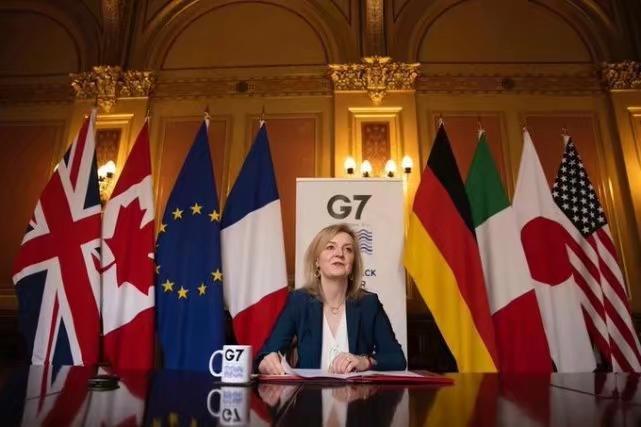 英国贸易大臣特拉斯主持召开G7会议。