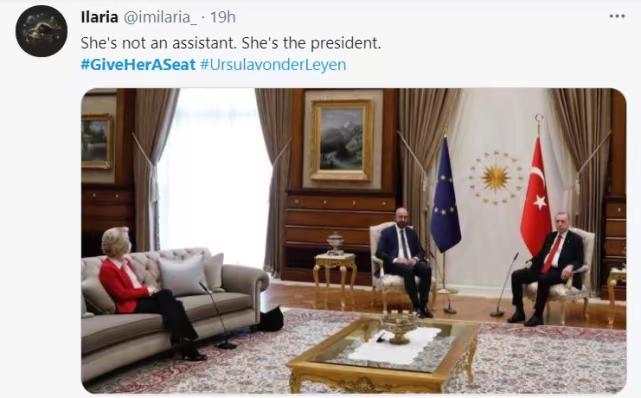 """有推文指""""她是主席,不是秘书""""。推特截图"""