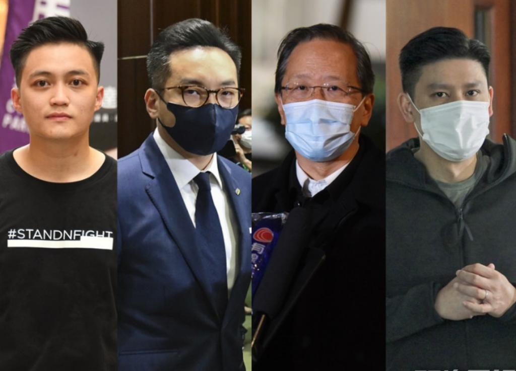 前公民党成员杨岳桥、谭文豪、郭家麒及李予信。