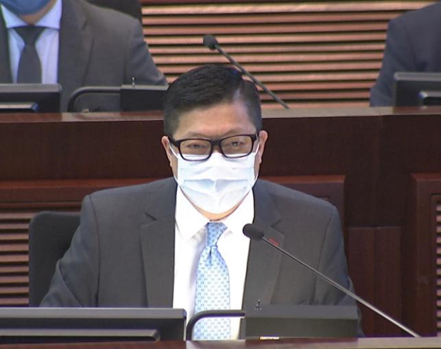 警務處處長鄧炳強。港台圖片