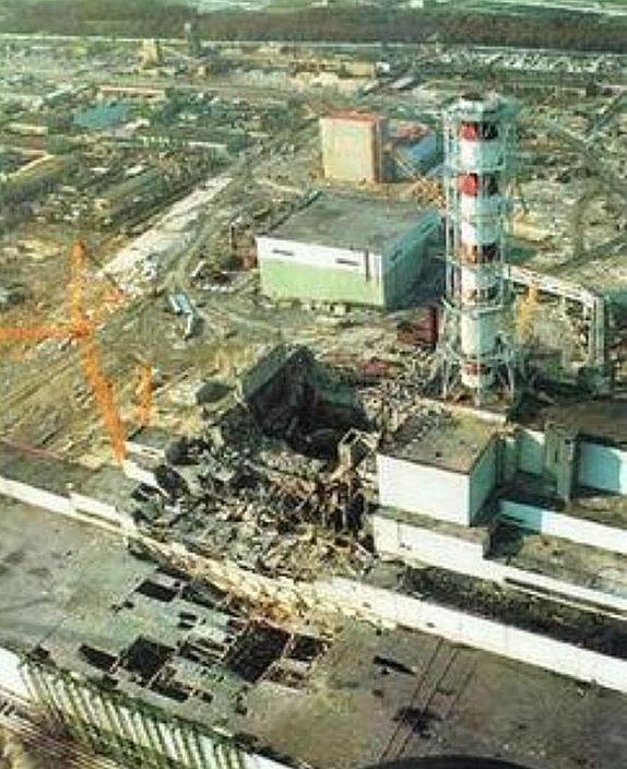 當年切爾諾貝爾核電站發生爆炸後,核反應堆核心溶解,造成重大災難。