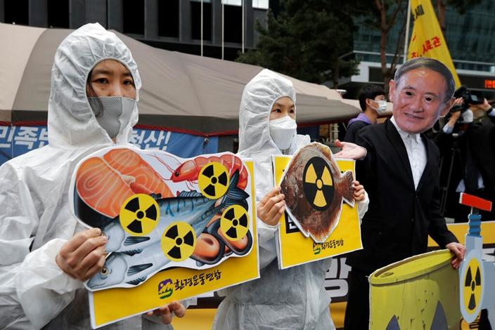 韓國對日本排核污水表示不能接受。(AP圖片)