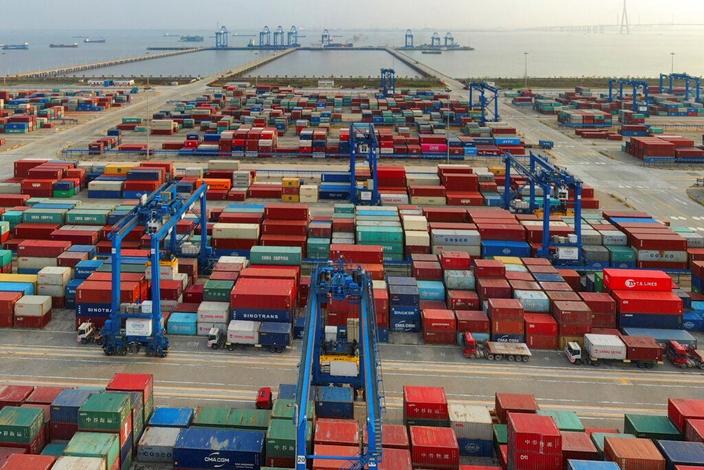 中国一季度GDP增18.3%。(AP图片)
