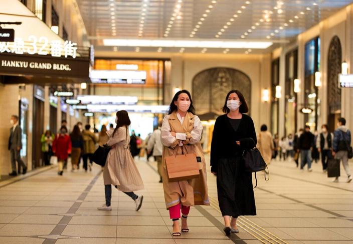 日本街角。(AP圖片)