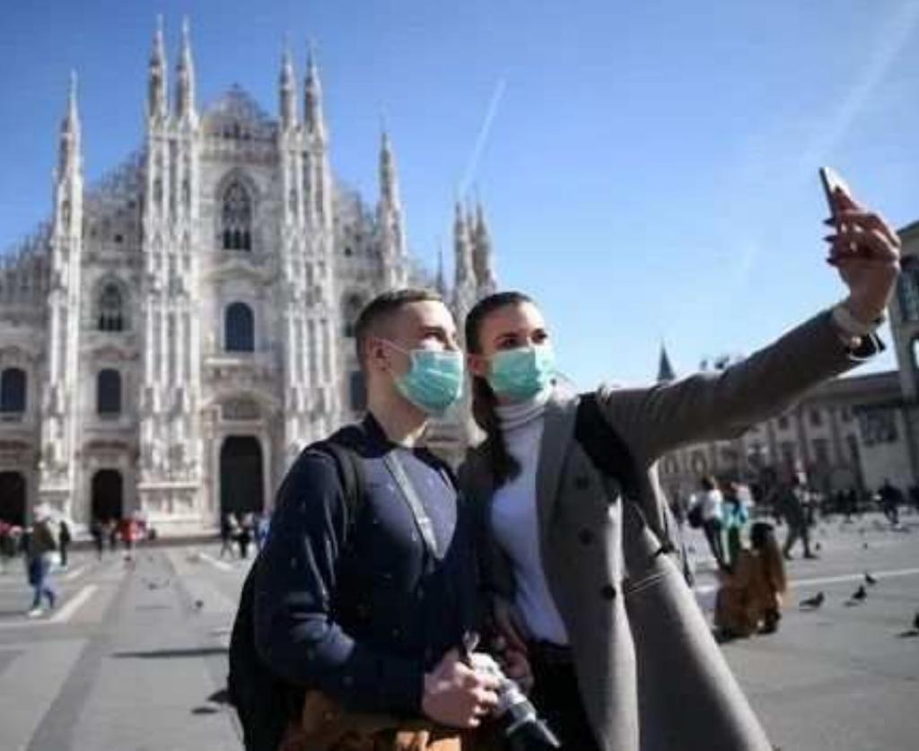 疫情下的米兰。新华社图片