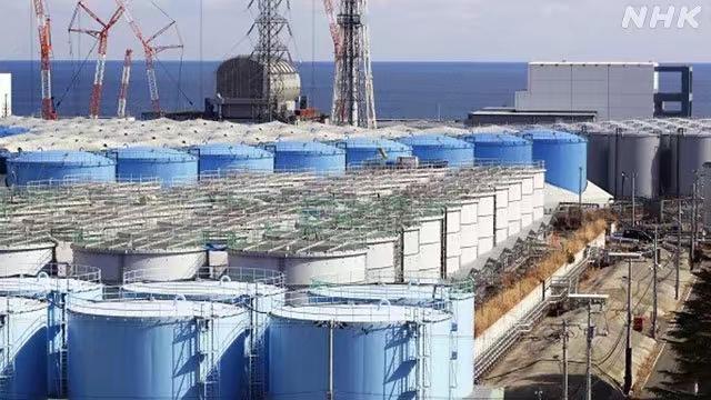 福島核電站有很多核污水儲存罐(淺藍色者)。