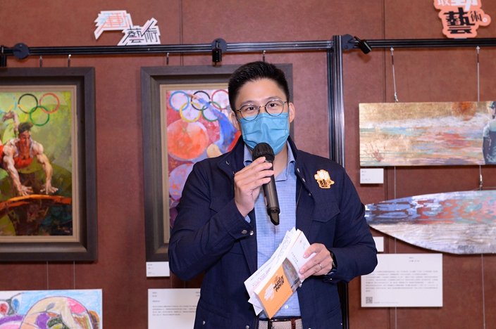 文化跃动主席、中国香港体育协会暨奥林匹克委员会(奥委会)副会长霍启刚先生感谢主办和协办单位的共同努力,促成这次难得的本港精英运动员与艺术家跨界合作。